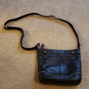 Born soft black leather shoulder bag crossbody